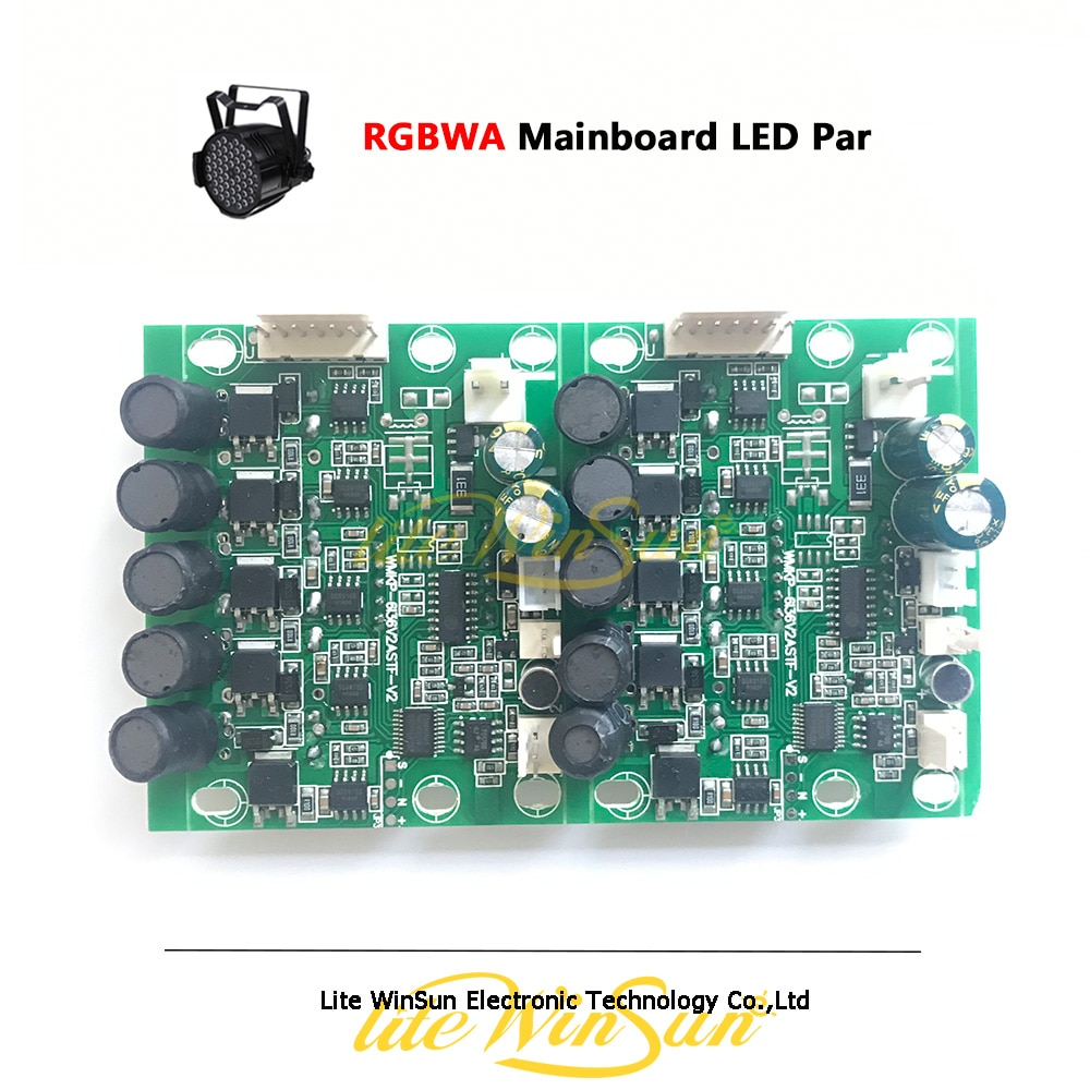 2pc RGBWA płyta główna płyta główna dla LED lampa par drążek LED 5 kolor płyty głównej płyta główna wyświetlacz