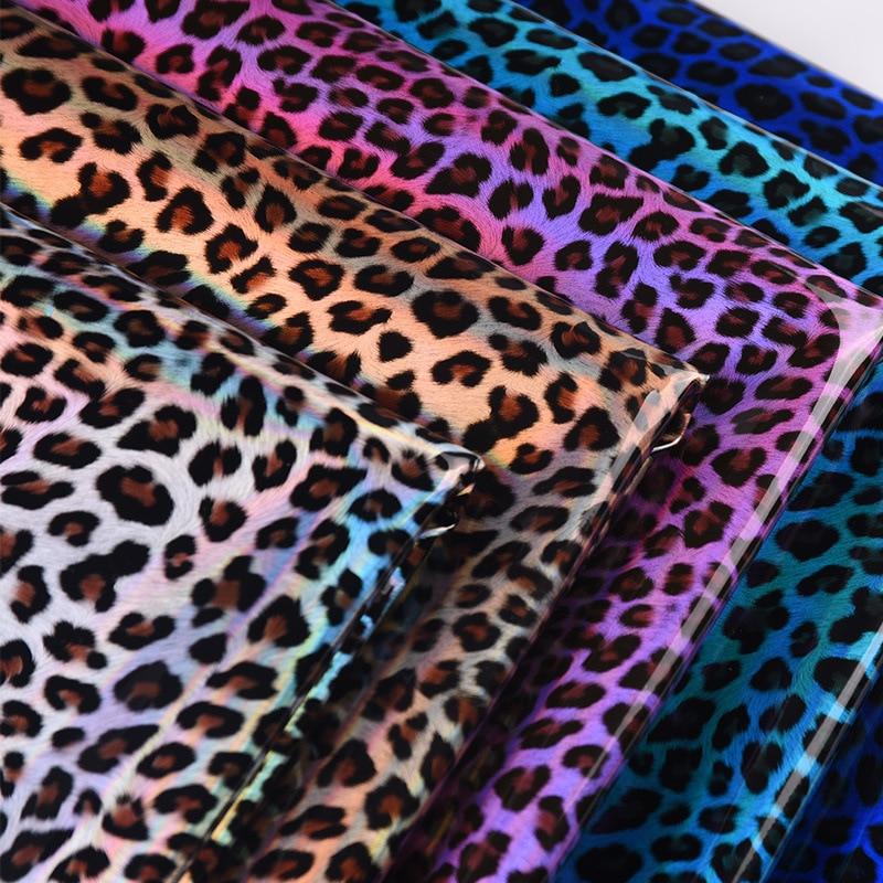 1m wasserdicht Symphonie spiegel leopard high-gloss leder tier textur spot leder für gepäck schuhe auto dekoration