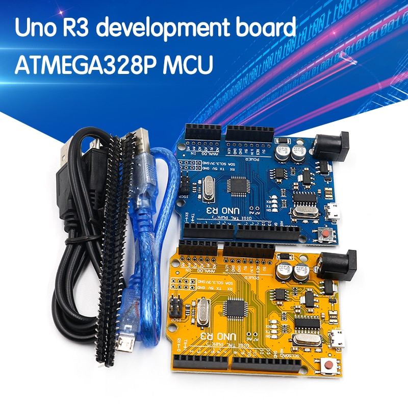 high quality One set UNO R3 (CH340G) MEGA328P for Arduino UNO R3 ATMEGA328P-AU Development board