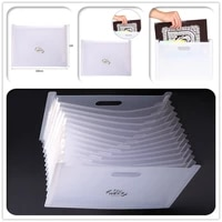 a4 file folder bag transparent clear plastic multi layer bag for storing office documents cutting diesstamps collection