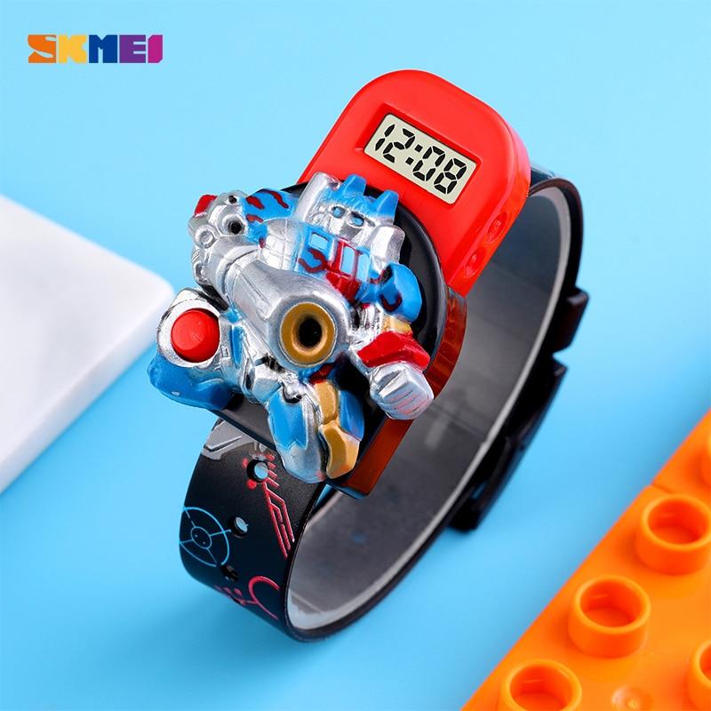 Cartoons Digital Watches for Children SKMEI Top Brand Robot Animation Style Kids Watch Casual Waterproof Boy LED Wristwatch 1750