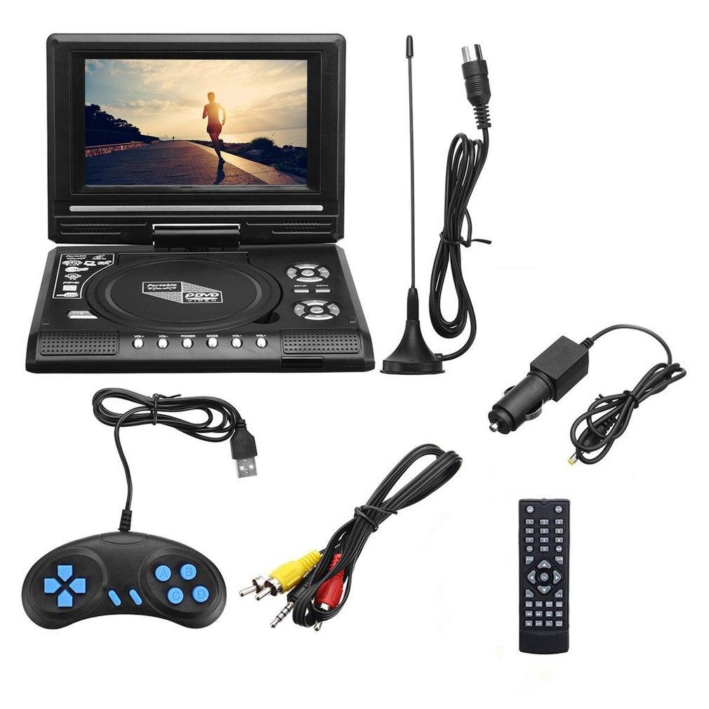 مشغل وسائط متعددة للتلفزيون ، مشغل DVD محمول ، تلفزيون عالي الدقة ، FM ، USB ، 7.8 بوصة
