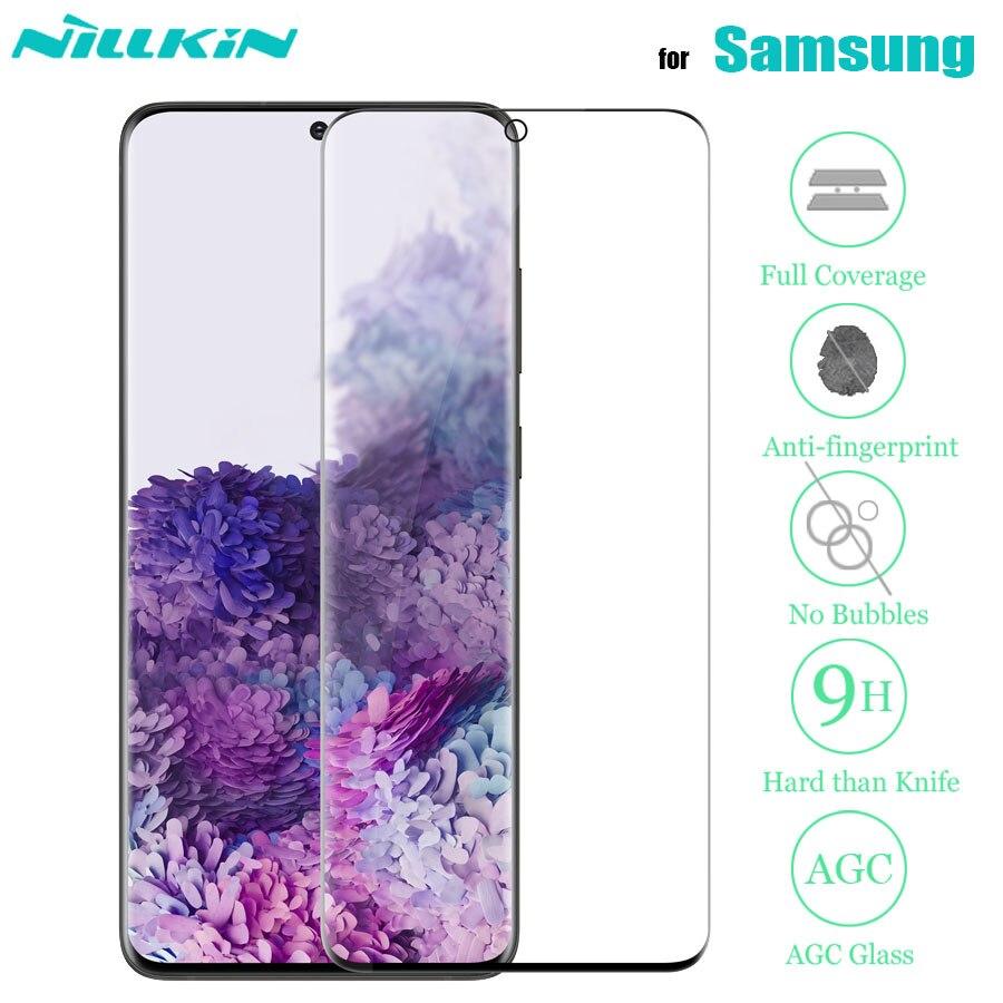 Protector de pantalla de cristal templado Nillkin 3D para Samsung Galaxy S20 Ultra S20 S10 S9 S8 Plus Note 10 9 8 Plus