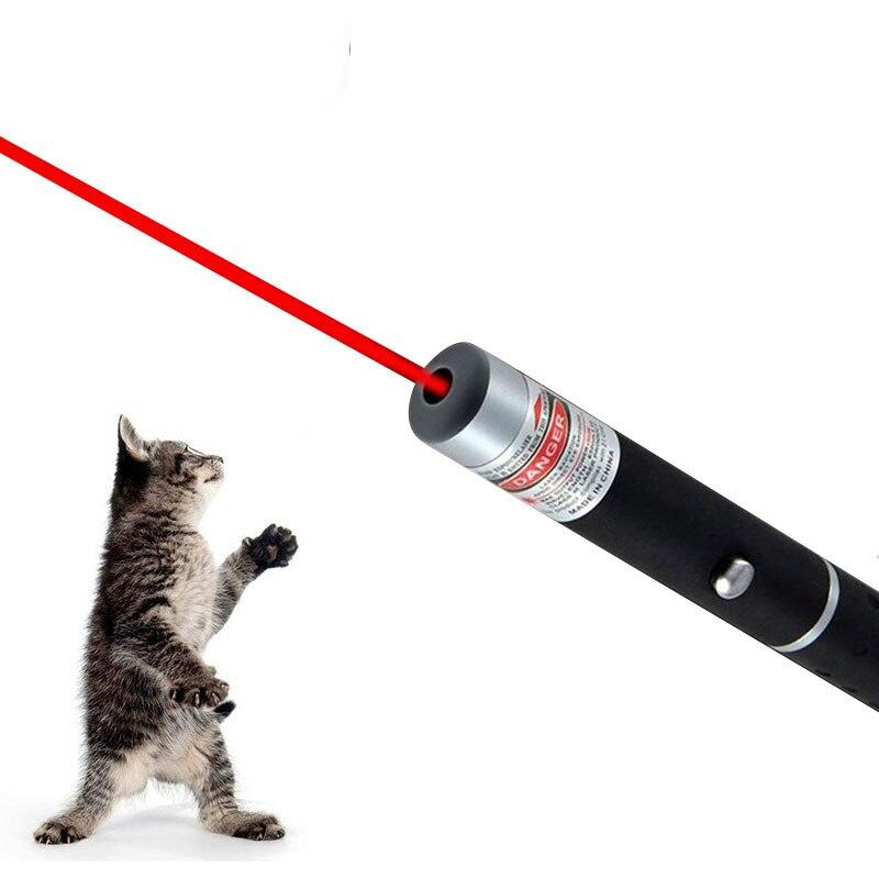 Забавная светодиодная Лазерная игрушка для домашних животных, игрушка для кошек, лазерная указка для кошек светильник вая ручка, Интеракти...