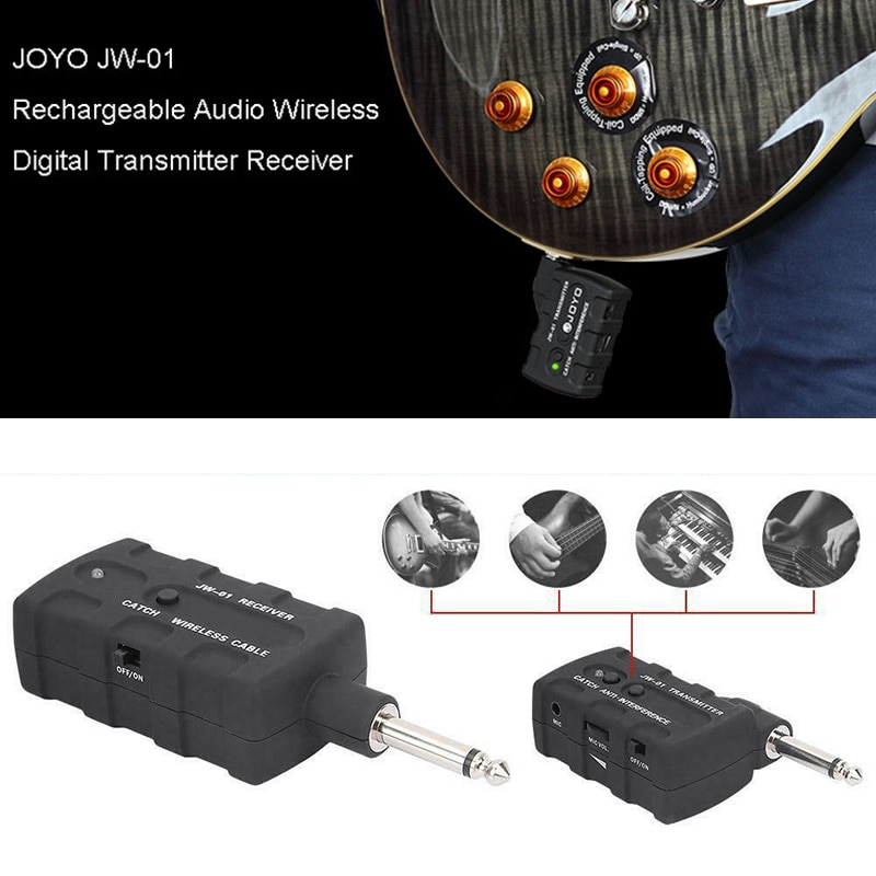 JW-01 2.4G Guitar Wireless System Transmitter Audio Transmission Bass Wireless Transmitter Receiver For Guitar Bass 20M enlarge