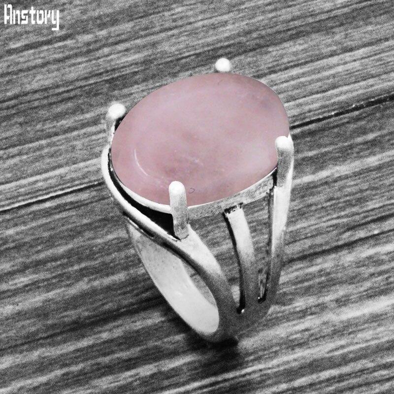8 цветов винтажные овальные кварцевые аметистские кольца Античные Серебро покрытые натуральным камнем тигровый глаз Unakite женское кольцо