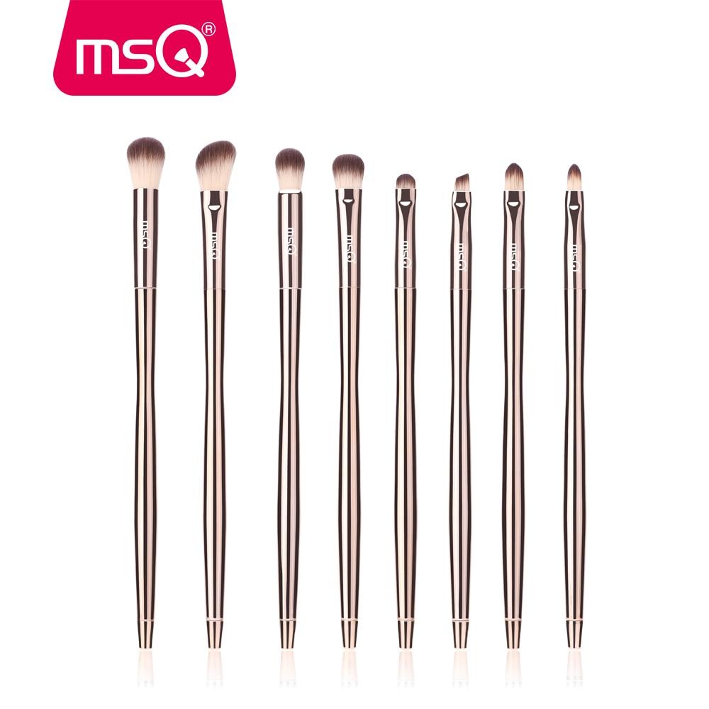 MSQ 8 шт набор кистей для теней для век, набор кистей для макияжа, растушевки, брови консилер, наборы кистей для макияжа с алмазными глазами, косметические инструменты