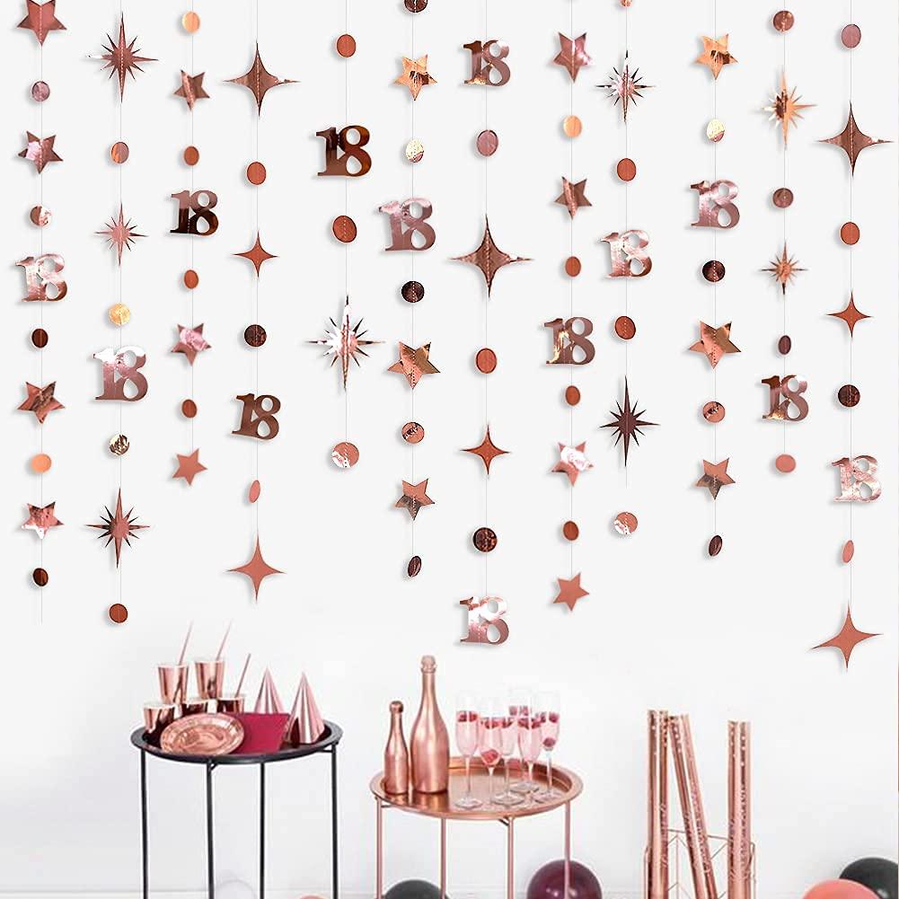 Розовое золото, сладкий, 16-й, 18-й день рождения, Декор, номер 21 в горошек, звезда, фотоэлемент для девочек в возрасте одного года