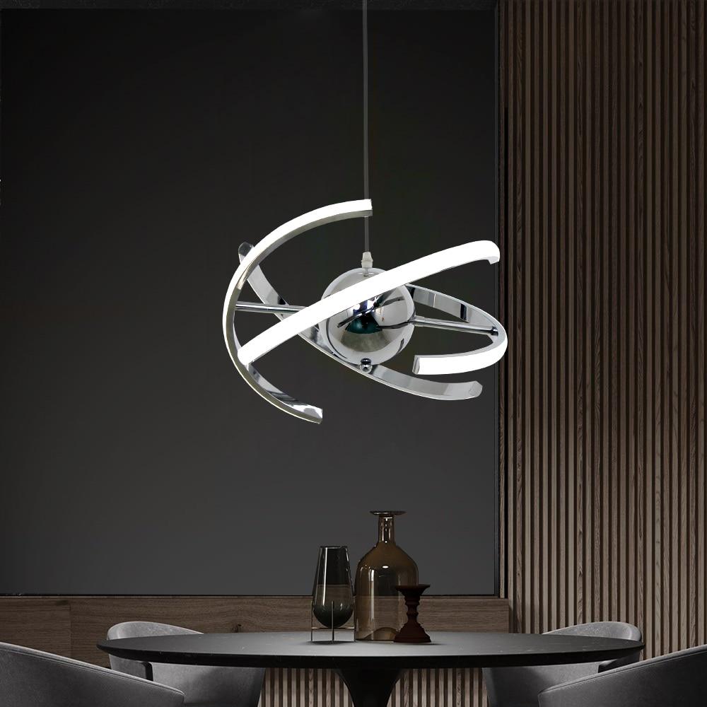 UMEILUCE الحديثة LED 20 واط قلادة ضوء الكروم مصباح معلق لغرفة الطعام غرفة نوم متجر ضبط النفس إندور الإضاءة