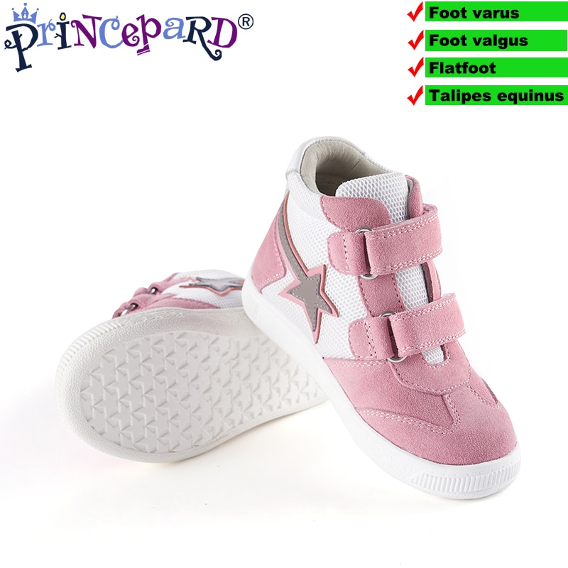 Princepard New Orthopedic Sneakers Sports Corrective Shoes for Children Navy Pink Autumn Kids Arch Support Shoes Girls Boys enlarge
