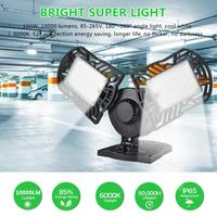 LED Ceiling Lamp 100w Garage Light WithSensor LED Adjustable Three Lights Waterproof Industrial Light Workshop Lamp Super Bright
