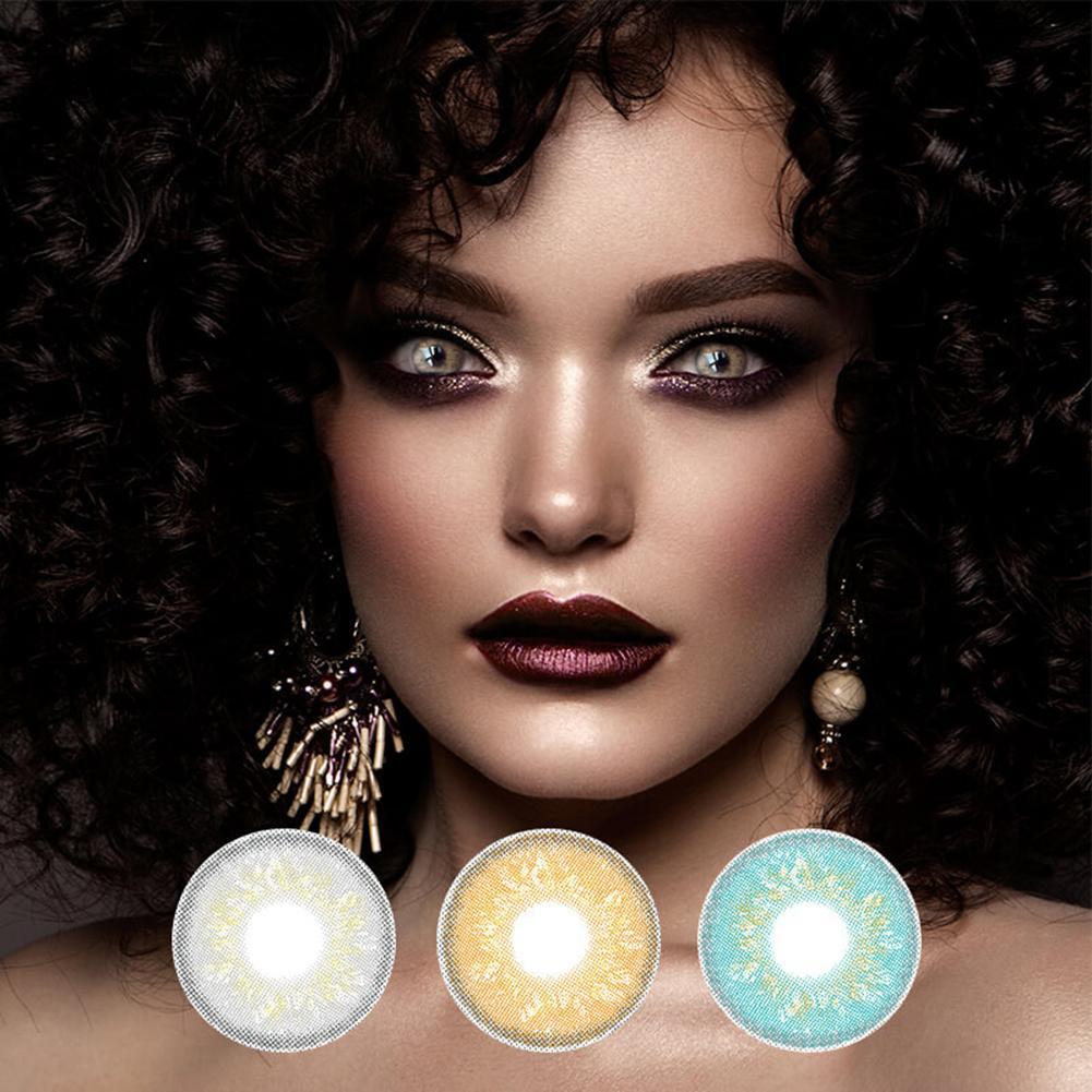Señora. H 2 unids/par lentes de contacto cosméticas Russian Girl Series bonitas pupila lentes de contacto cosméticos Color Natural lentes de uso anual