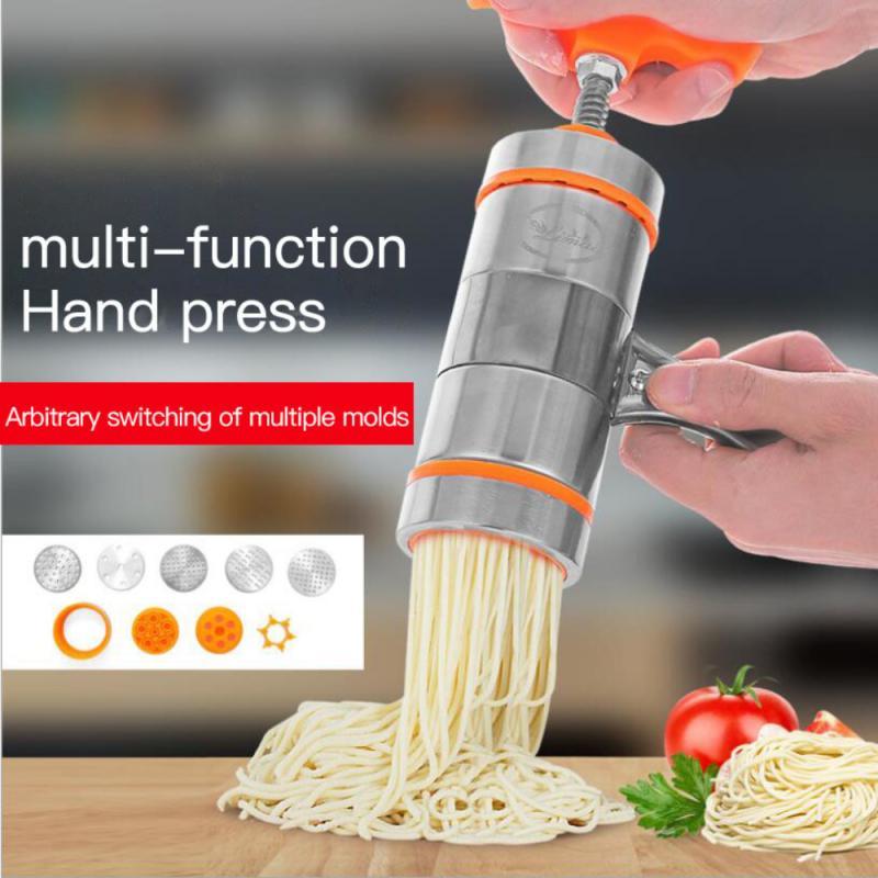 Stainless Steel Pasta Noodle Maker Fruit Juicer Spaghetti Manual Press Machine Manual Noodle Makers enlarge