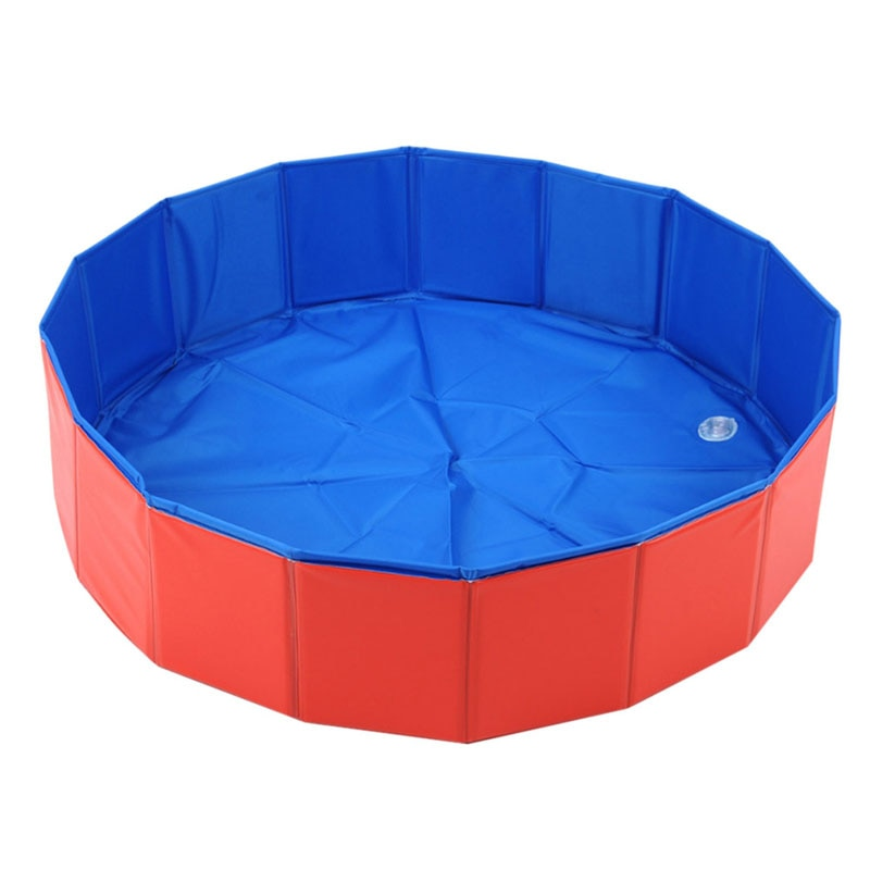 Pet Grooming Bath Pool Large Bathtub Dog Wash Pool Swimming Pool Red Composite Cloth For Dog Cat Washing Cleaning