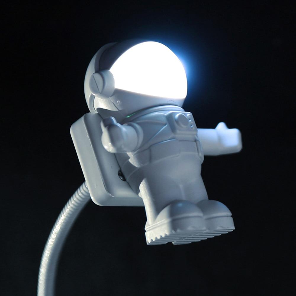 led mini luz da noite usb astronauta brinquedos luzes criativo lampada de mesa para