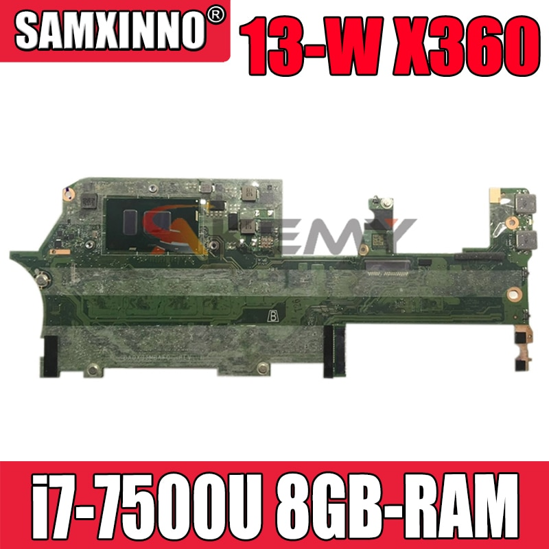 DA0X31MBAF0 ل HP شبح x360 13-W013DX 13-W اللوحة المحمول 907559-001 907559-601 مع i7-7500U 8GB-RAM 100% اختبار بالكامل