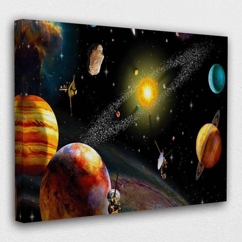 Space Solar System Universe Planet Art Design Poster HD Printed On Canvas Painting Pictures For Bedroom And Office Wall Decor