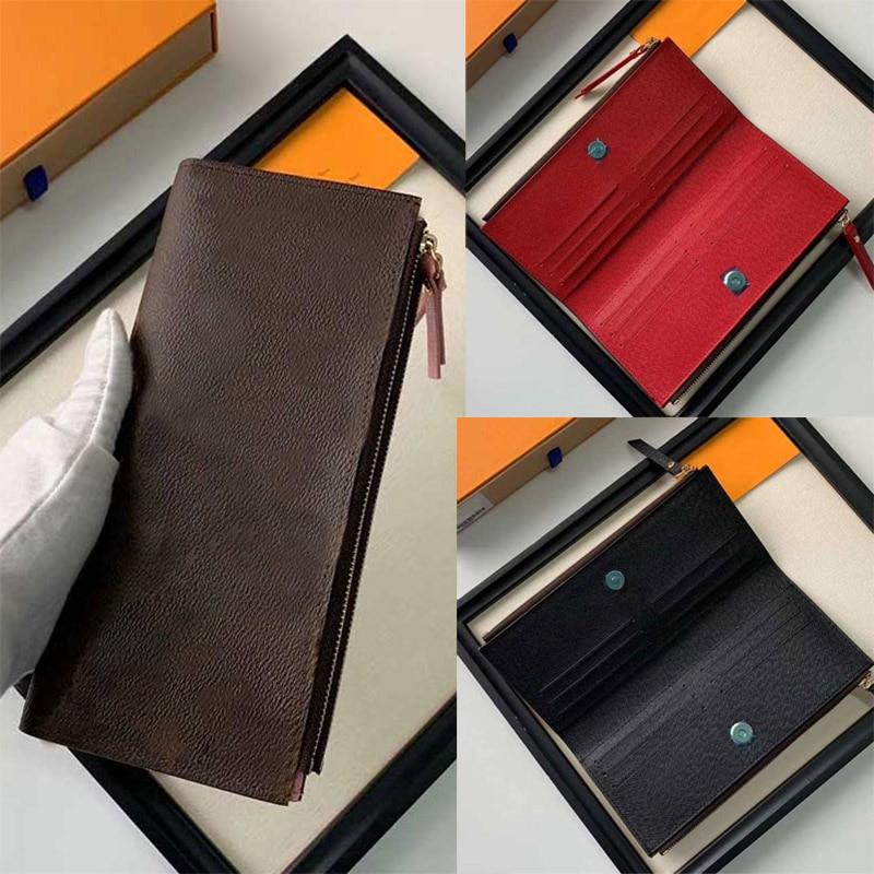 Luxury Designer Zippy Long Wallet Genuine Leather Lining for Women louis Purse Pattern Branded louie vuiton card holder