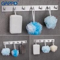 GAPPO     crochets pour Robe  5 crochets pour vetements  en acier inoxydable  support mural pour salle de bains  porte-serviettes multifonctionnel