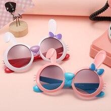 New Cute Rabbit Sunglasses Boys and Girls Cartoon Kids Fashion Style Children's Trendy Street Shoot