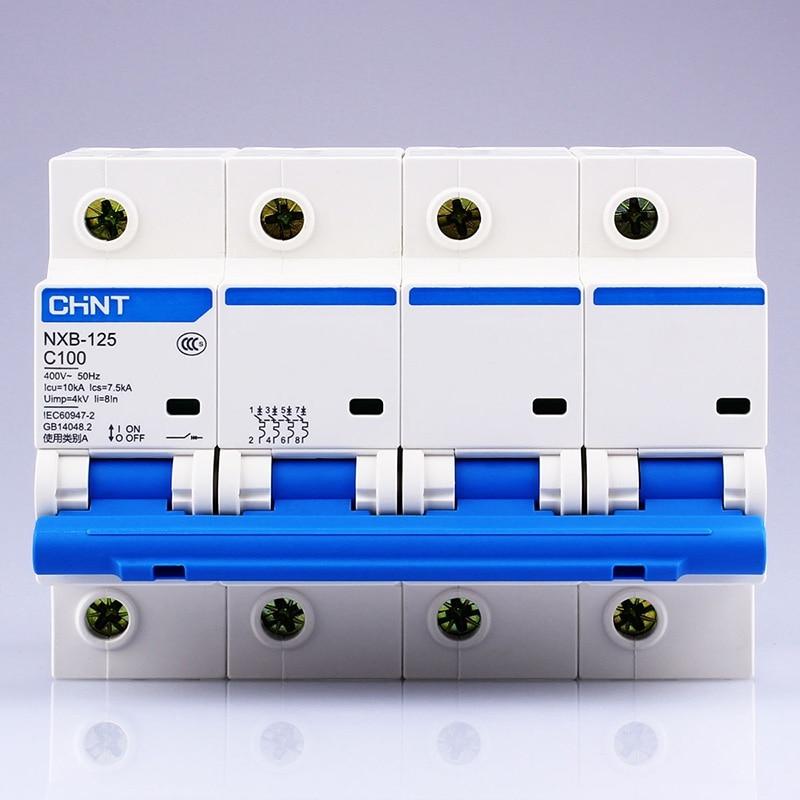 CHINT NXB-125 4P AC 230/400V المنزل الطاقة التبديل الرئيسي 63 80 100 125A عالية الحالي الهواء التبديل DZ158 تحديث النسخة