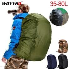 Mochila impermeable de 35-80L, cubierta a prueba de polvo para mochila, cubierta impermeable para exterior, Camping, senderismo, escalada