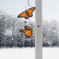 home decor metal monarch butterfly exquisite window decoration crafts wall hanging for home living room party supplies