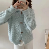 ms of new fund of 2021 autumn winters cardigan sweater knitting coat loose long sleeve