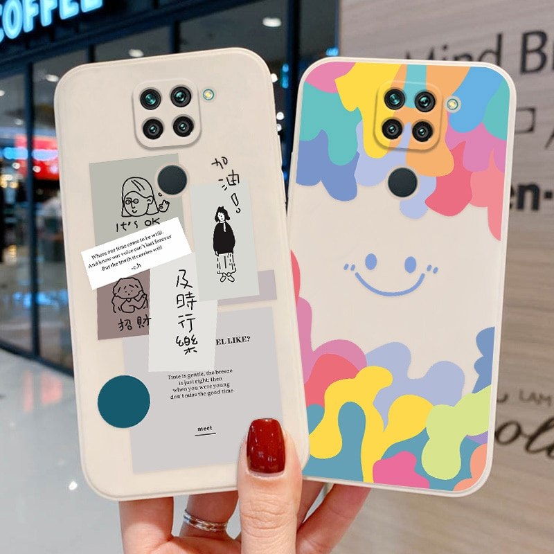 AliExpress - Cute Smiley Capa Poco X3 Pro Case For Redmi 9T Funda Xiaomi Redmi Note 9 10 Pro 9 8 9S 10S Coque Redmi 9C NFC 9A TPU Back Cover