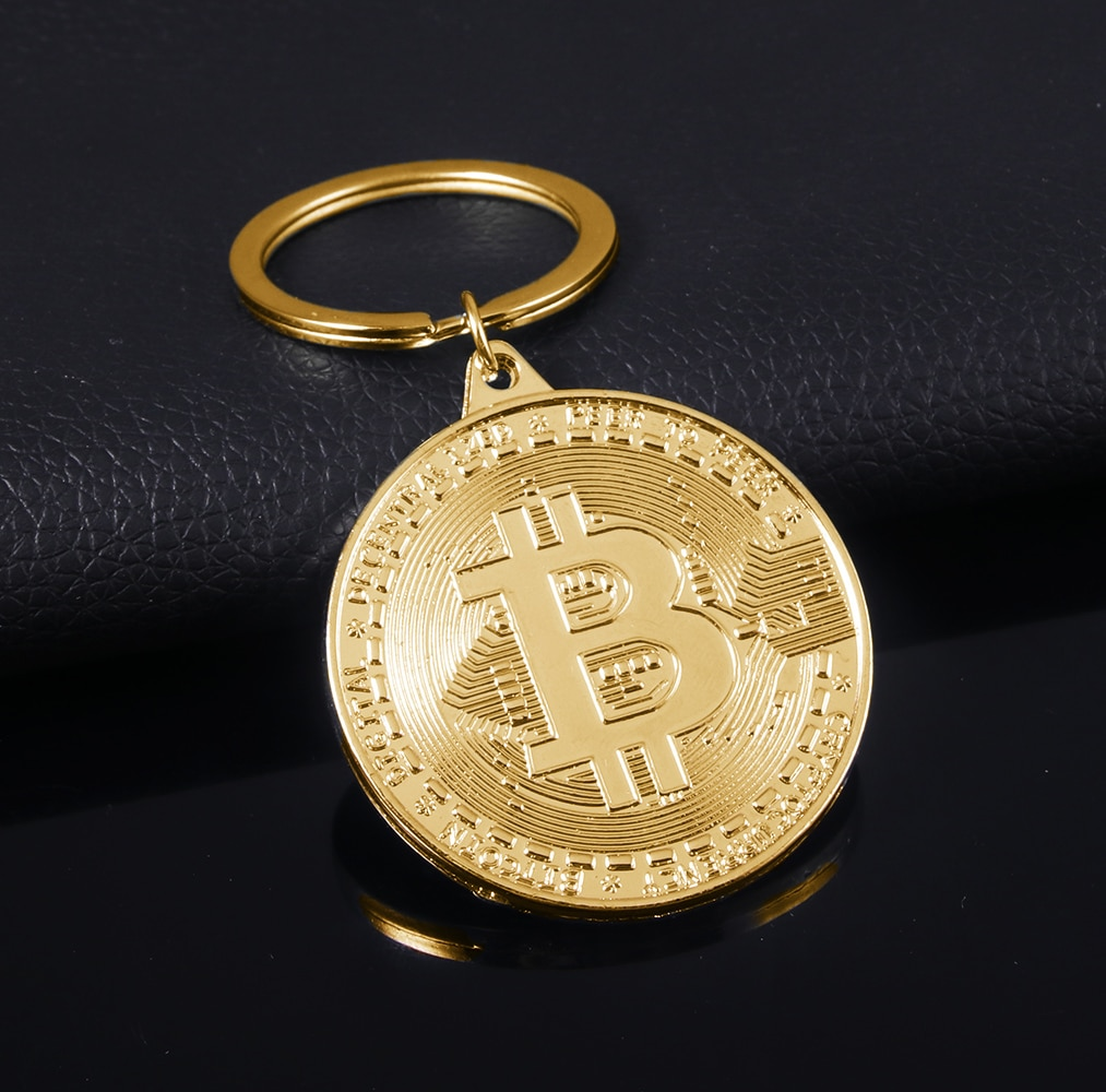 2021 Newest Bitcoin Keychain Music Band Keyring Pendant Women and Men Jewelry Collection Gift