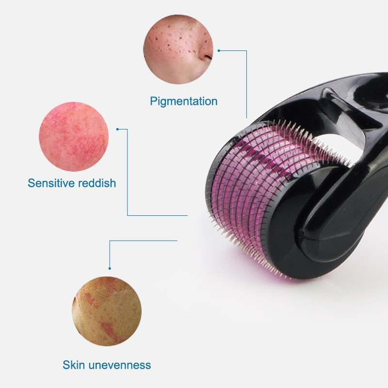 Micro Needle Roller Derma Roller 540 Micro Needles Mezoroller Machine Hair-loss Treatment Skin Care Microniddle Roller for Face