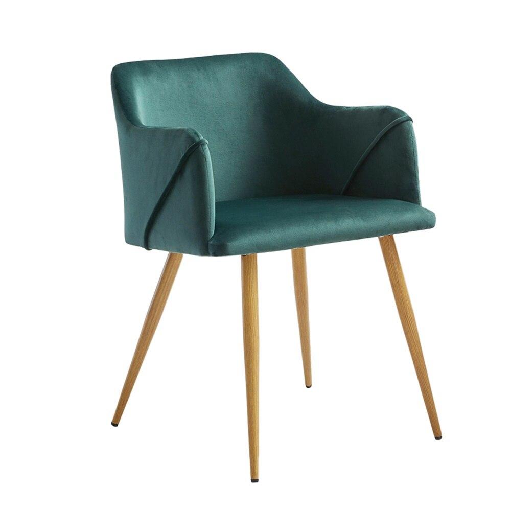 Silla de comedor de terciopelo moderno Retro EGGREE, sillón de cocina, silla de oficina, silla de salón de invitados, rosa, Stock europeo