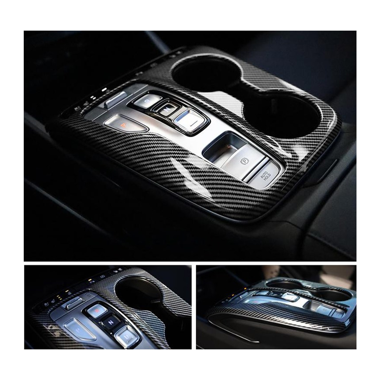 LFOTPP Car Carbon Fiber Panel Cover For Tucson NX4 2021 Central Control Gear Shift Box Auto Interior Styling Accessories 1 Pc enlarge