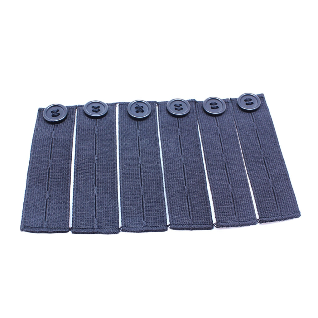 6pcs Elastic Waist Extenders Adjustable Waistband Expanding Button Women Jeans Pants Buttons Extende