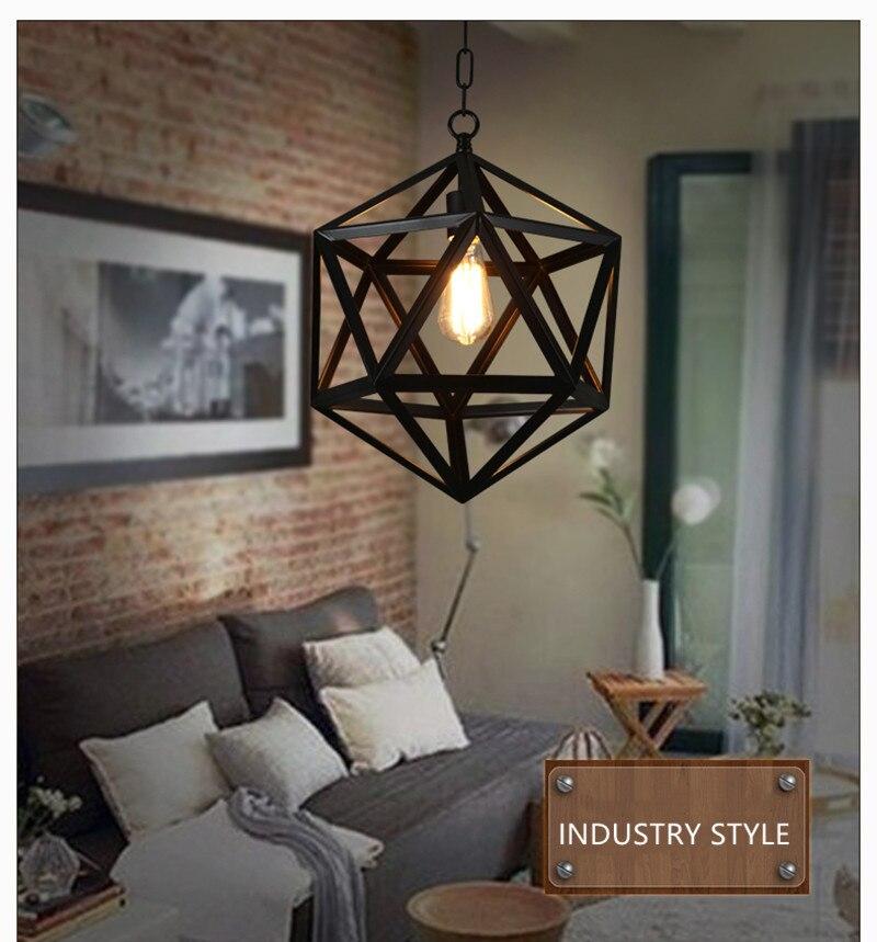 مصباح معلق معدني صناعي كلاسيكي ، حديد ، أسود ، عرض خاص