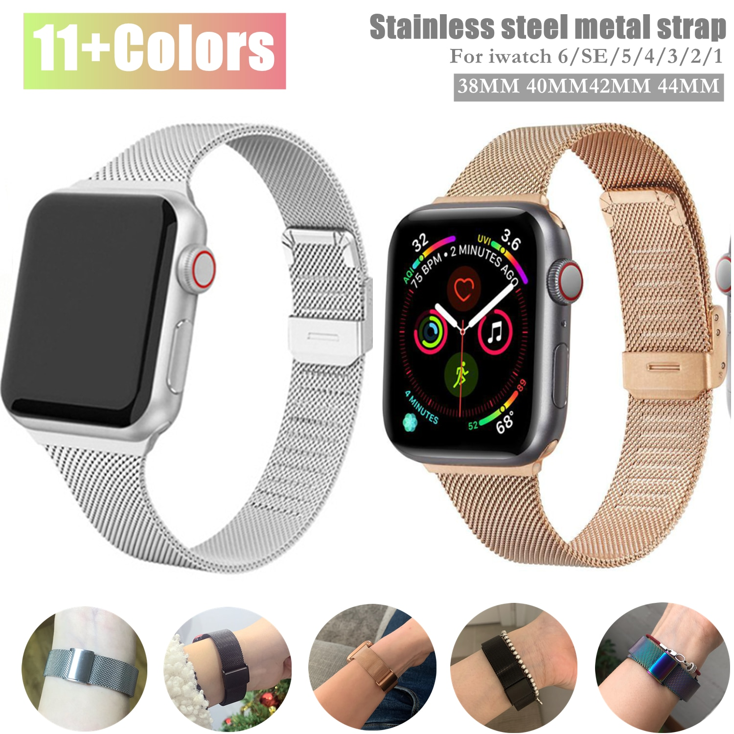 for apple watch series 4 band real carbon fiber watch straps for apple watch series 1 2 3 iwatch 38 4mm men s wrist bracelet Slim Watch Band for Apple Watch SE 6/5/4 44MM 40MM Metal Bracelet Loop Strap for iWatch Series 4/3/2/1 42MM 38MM Wrist Watchband
