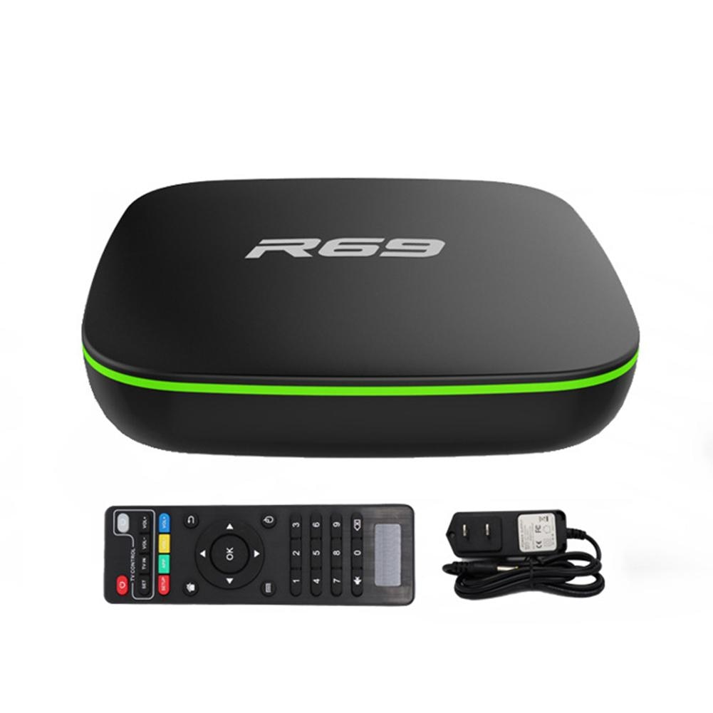 R69 Android TV BOX Android 7.1 Smart TV Box 2GB 16GB Amlogic S905W Quad Core 2.4GHz WiFi Set top box