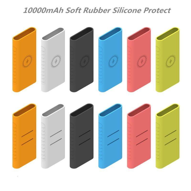 New Silicone Protector Case For xiao mi powerbank 10000mAh PLM11ZM Wireless Powerbank Accessories Ca