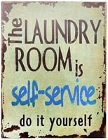 smartcows laundry retro vintage tin metal sign home decor 8x12 wall decor