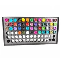 78 holes stainless steel ink rack display stand wall mounted paint rack stand pigment organizer ink bottle storage holder