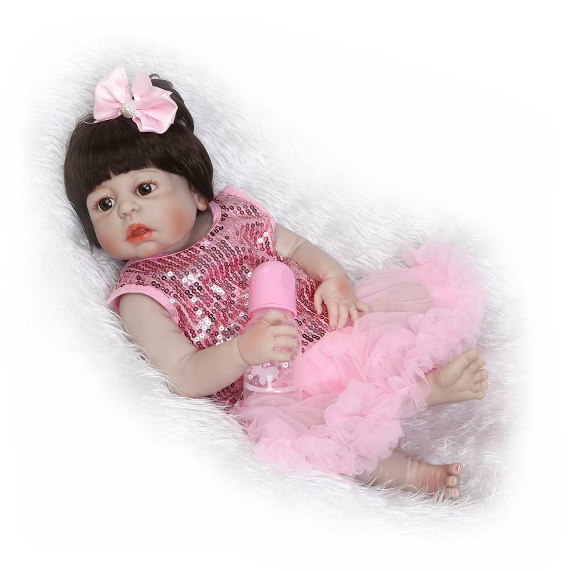 22 Reborn Silicone bébé doux fille poupée corps complet vinyle lavable nouveau-né cadeaux Silicone Reborn bébé poupées