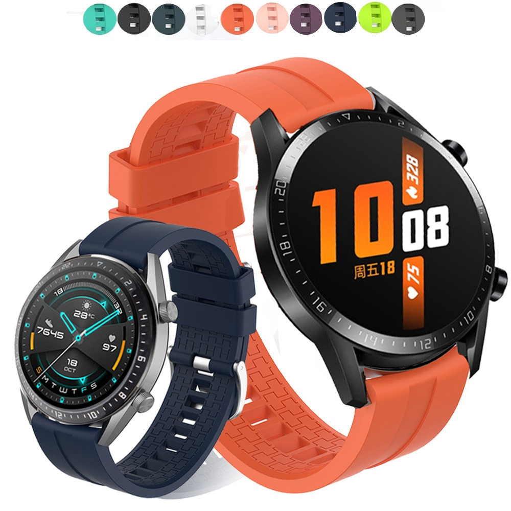 For Huawei Watch GT 2 GT2 46mm Smart Watch Silicone Sport watch band Bracelet 22mm Watch Strap ремешок Honor Watch Magic