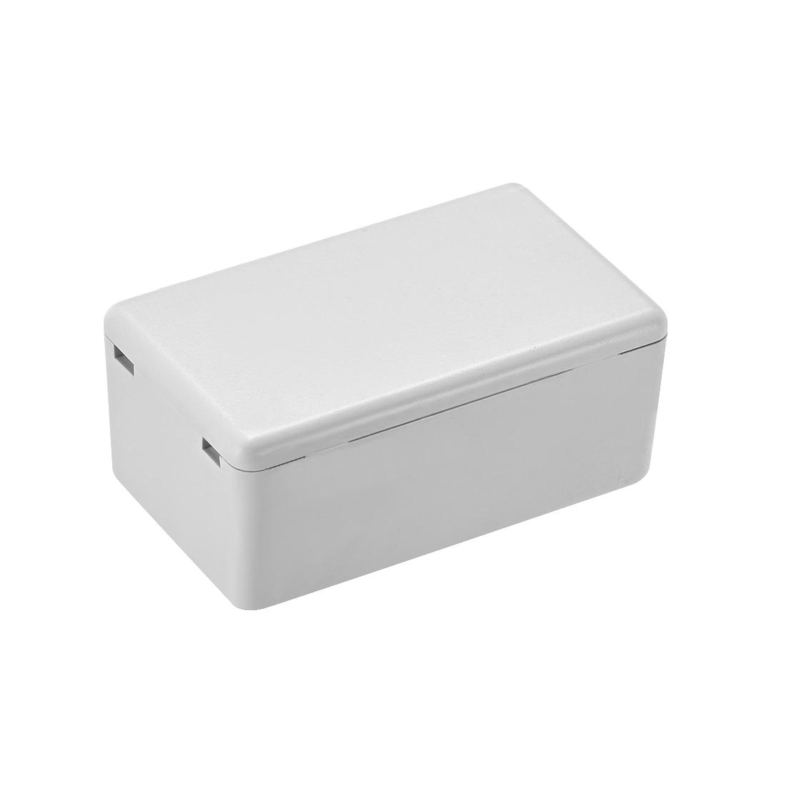 Caja de cierre electrónica de plástico DIY uxcell caja de cierre electrónica caja de proyecto blanca 60x36x25mm