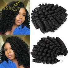 AISI BEAUTY-extensiones de pelo sintético para mujer, de 8 pulgadas ombré pelo trenzado, Varita ondulada, trenzas de ganchillo, para mujeres negras