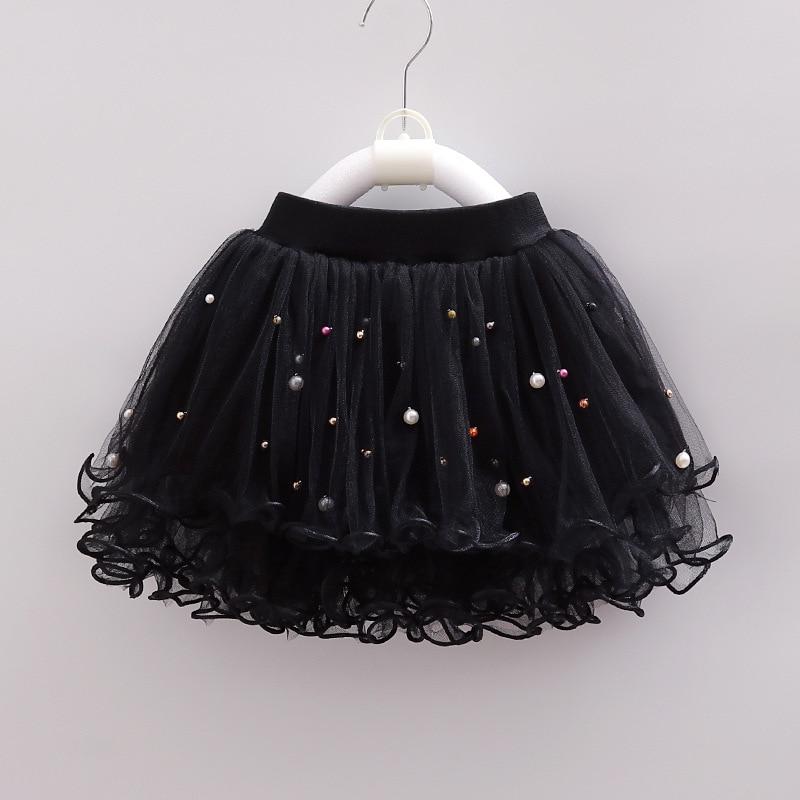 Лето 2020, короткая юбка для девочек, кружевная шифоновая детская юбка с ручной застежкой и жемчужинами, модная вечервечерние для маленьких детей Юбки    АлиЭкспресс
