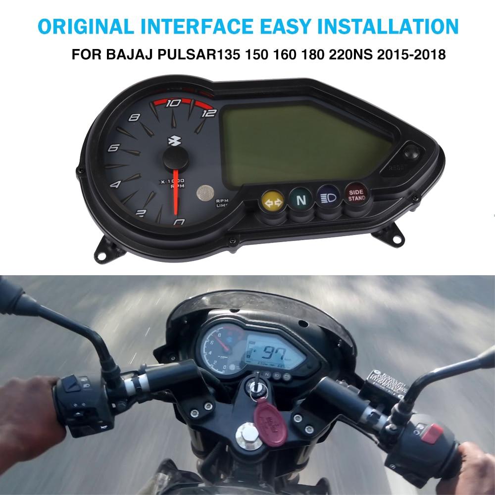 Motorcycle Instrument Electronic odometer speedometer Speedo tachometer For BAJAJ Pulsar 180 125 135 150 160 220NS Pulsar180