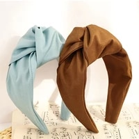 solid color big knot headbands for women flower hairbands hairpins hair accessories for girls crown knot headband hair band