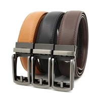 top quality cow genuine leather mens belt cowhide strap for male automatic buckle belts for men alloy buckle belt