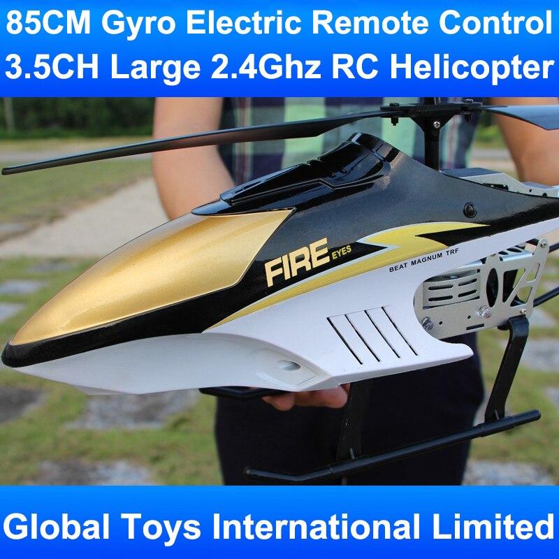 85CM giroscopio grande con marco de Metal 3.5CH con luces LED 2,4 Ghz Radio Control remoto eléctrico RC helicooper niños regalos Juguetes