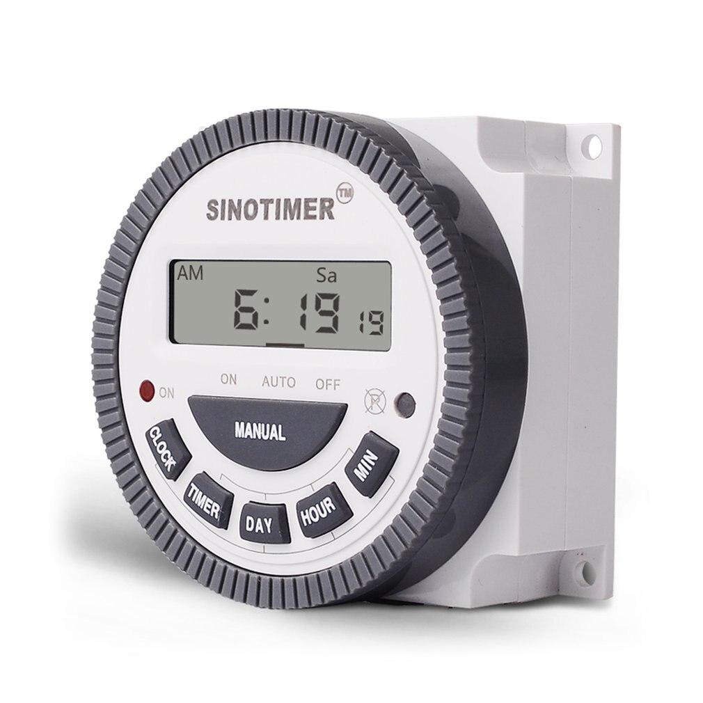 SINOTIMER, 220V, 10A, interruptor de tiempo programable Digital, temporizador de relé, control semanal, 7 días para aparatos eléctricos con despertador